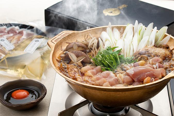 淡海地鶏の鶏すき焼きの画像