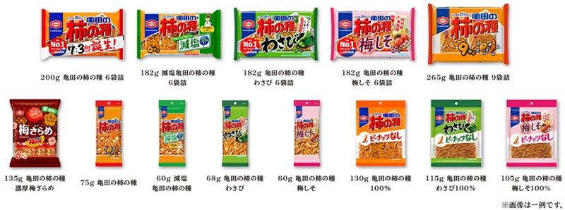 「亀田の柿の種」シリーズ全商品の画像