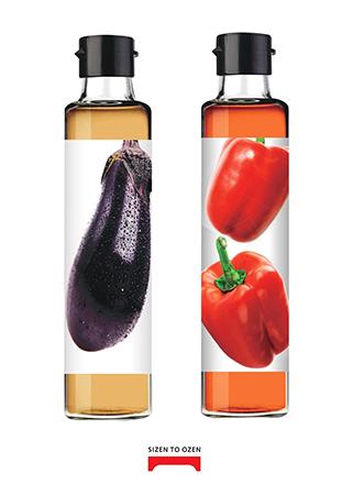 野菜で野菜を食べる黒酢ドレッシングの画像