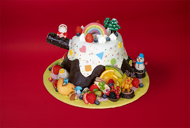 パティシエがつくったケーキの画像