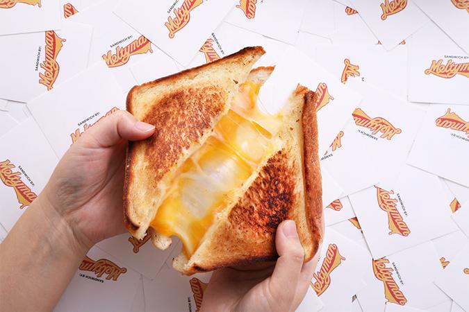 グリルドチーズサンドイッチブランド「Meltyman」のグリルドチーズサンドイッチブランドの画像