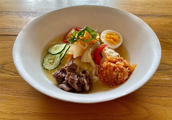 韓国冷麺風そうめんアレンジの画像