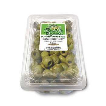 グリーンオリーブのマリネ(種抜き)500g
