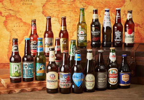 世界のビールや日本のクラフトビール全20種類が揃う
