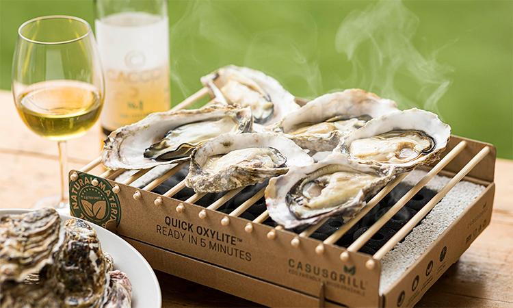 ベランピング焼牡蠣