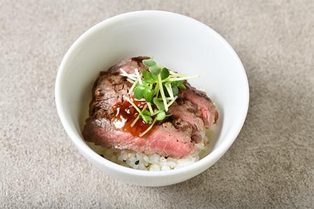 牛肉の網焼丼 生姜風味