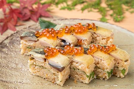 炙り〆鯖のバッテラ寿司 宮城県産金華鯖使用