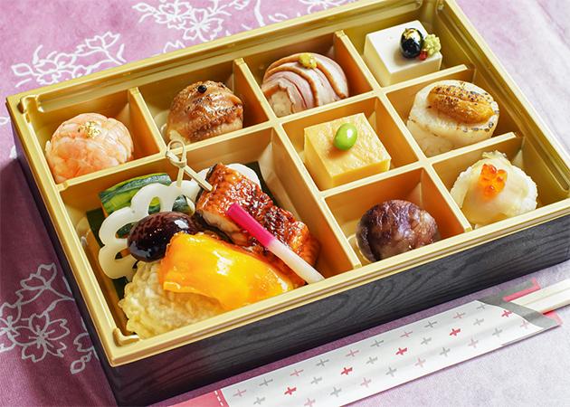 彩り手毬寿司弁当