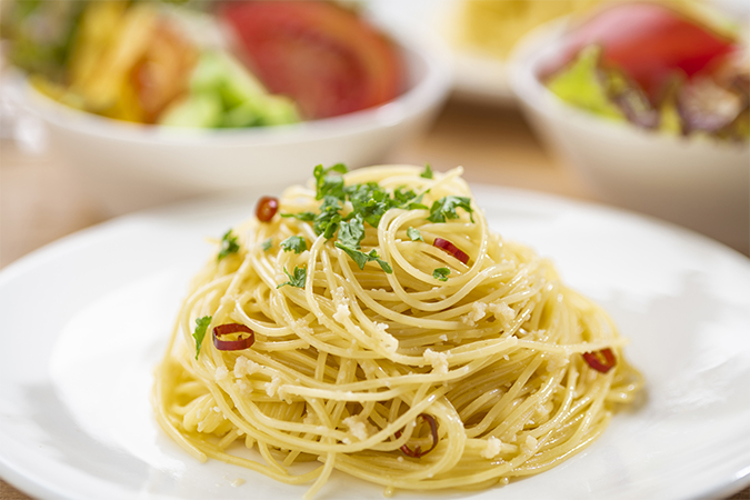 調理例:ペペロンチーノ