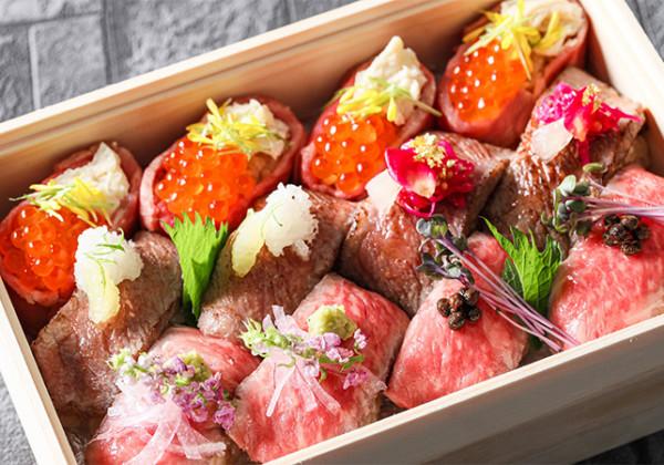 """肉寿司弁当""""雅"""""""