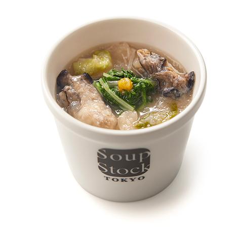みをつくしのスープ 牡蠣の潮煮(うしおに)みぞれ仕立て
