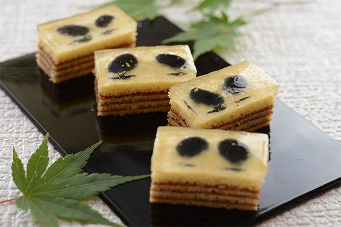 わらび餅のバウム・黒豆