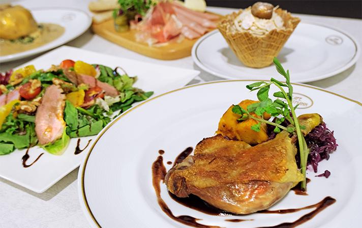 秋の素材を使用したウィーンの伝統料理