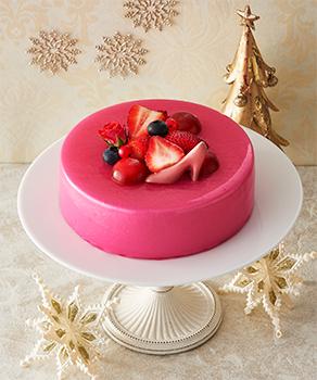 Mousse au chocolat rubis