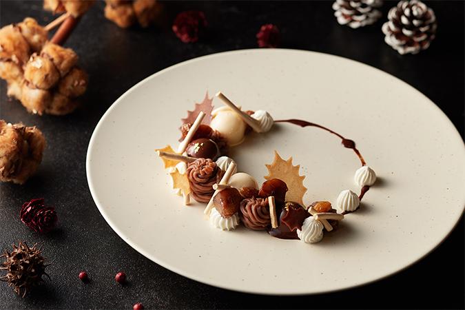 クリスマスリース モンブラン 栗 コーヒーとオーガニックチョコレート