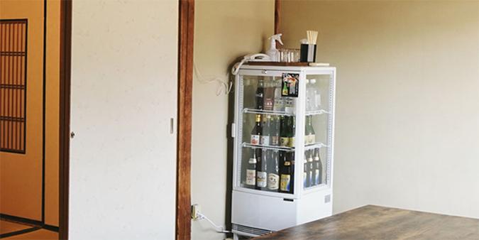『なら酒蔵なべ』個室内冷蔵庫