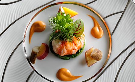 オマール海老のソテー 甲殻風味のソース