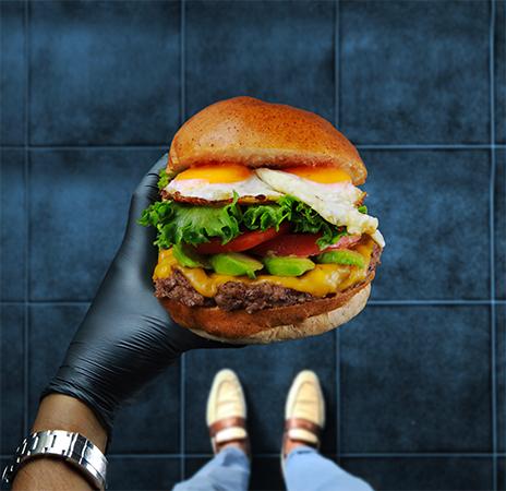 GOKU BURGERでのハンバーガー