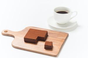 生チョコを自由な大きさにカット