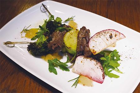 エゾシカと三浦野菜の串焼きスピエディーニ