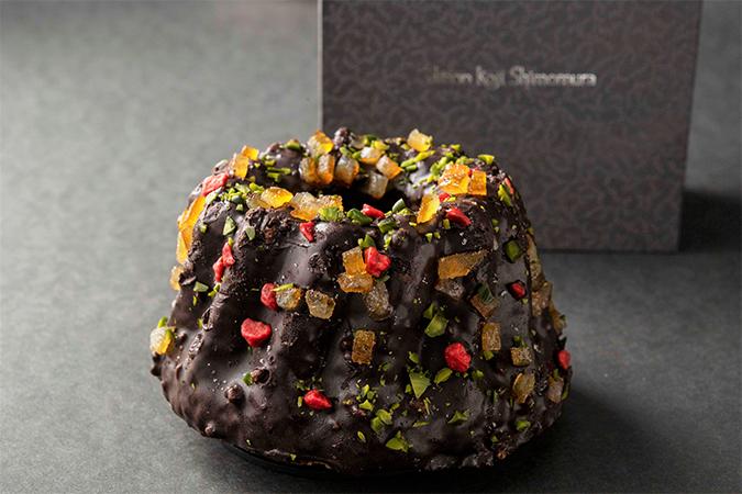 ピスタチオとチョコレートのクグロフ