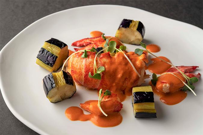 オマール海老と茄子のブレゼ