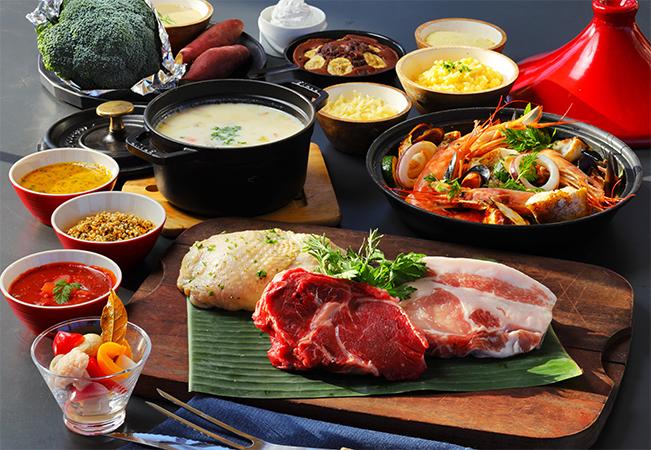コース料理と食材