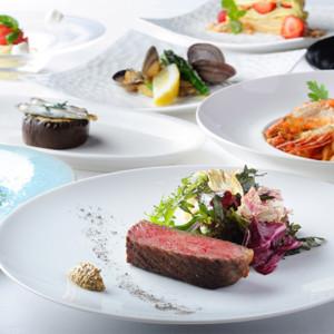 「LA SORA SEED FOOD RELATION RESTAURANT」のフルコースディナー