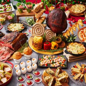 豪快に焼き上げたシュラスコをはじめとする、サラダや前菜にも肉をたっぷり使ったメニュー