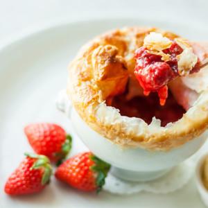 苺のポットパイ バニラアイスクリームとともに 小田急ホテルセンチュリーサザンタワー