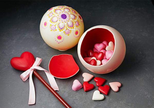 ザ・リッツ・カールトン大阪 2021年バレンタインコレクション チョコレートフラワーボール ハートステッキ