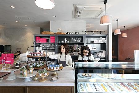 クッチョロカフェ店内の風景