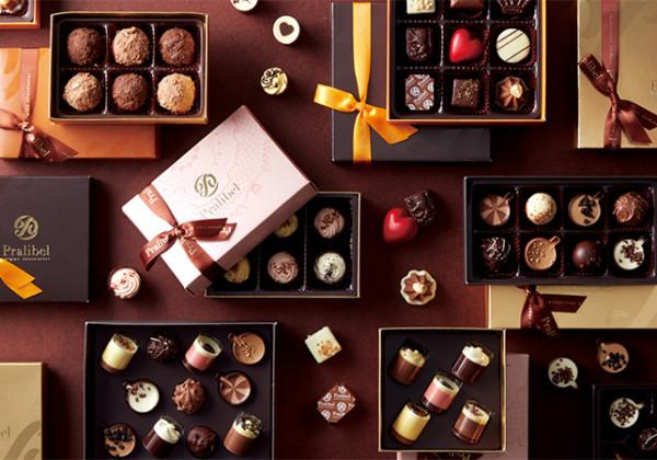 プラリベルのチョコレート