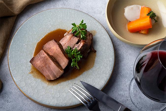 牛タンのマデラソース煮込み&ボッリート「Chef du Quick Menu」