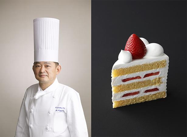 中島眞介とスーパーあまおうショートケーキ