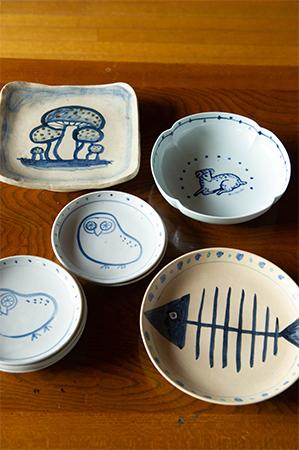和田さんが絵付けをした皿
