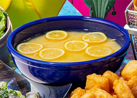 チキンレモンスープの画像
