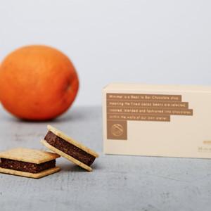 チョコレートサンドクッキー・オレンジタルトの画像