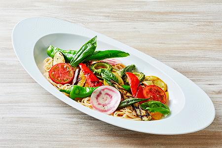 冷製カッペリーニ 旬の夏野菜と共にの画像