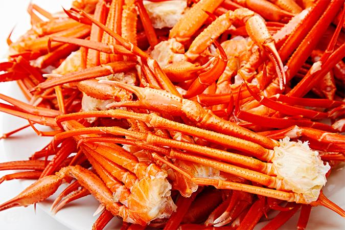 北海道産紅ズワイ蟹のボイルの画像