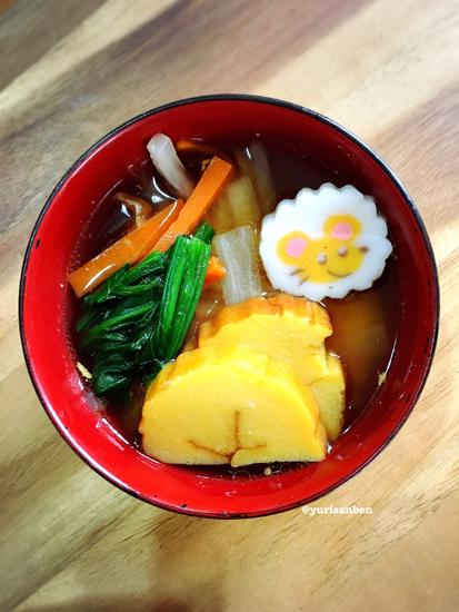 お雑煮デコ弁当2