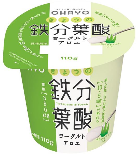 きょうの鉄分葉酸ヨーグルト アロエ
