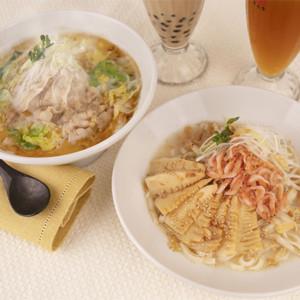『酸菜白肉麺』と『桜海老と筍のまぜ麺』