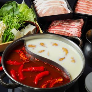 スープが選べる!生スパイスが香る特製チゲしゃぶ鍋