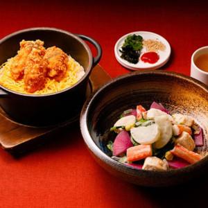 揚げ鱈の炊き込みご飯/蟹と冬野菜のだし温サラダセット