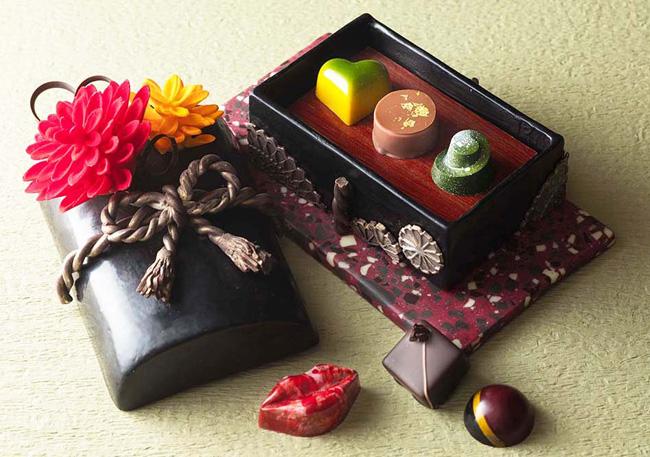 玉手箱をイメージしたチョコレート