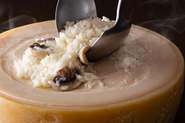 ベラガッティーノチーズであえるリゾット