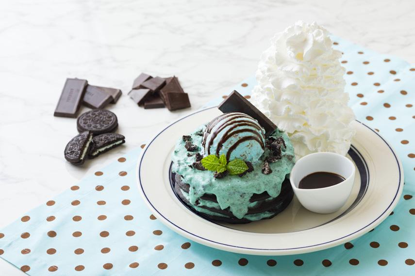 チョコミントパンケーキ