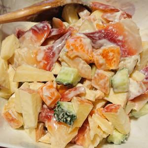 ホッキ貝のブルーチーズサラダの画像