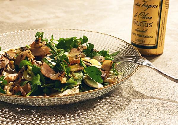 マッシュルームとクレソンの森のサラダの画像
